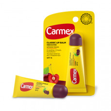 "Carmex Бальзам для губ ""Вишня"" Lip Balm Tube Cherry SPF 15"