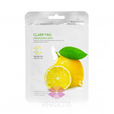 BeauuGreen Тканевая маска для лица с экстрактом лимона Clarifying Lemon